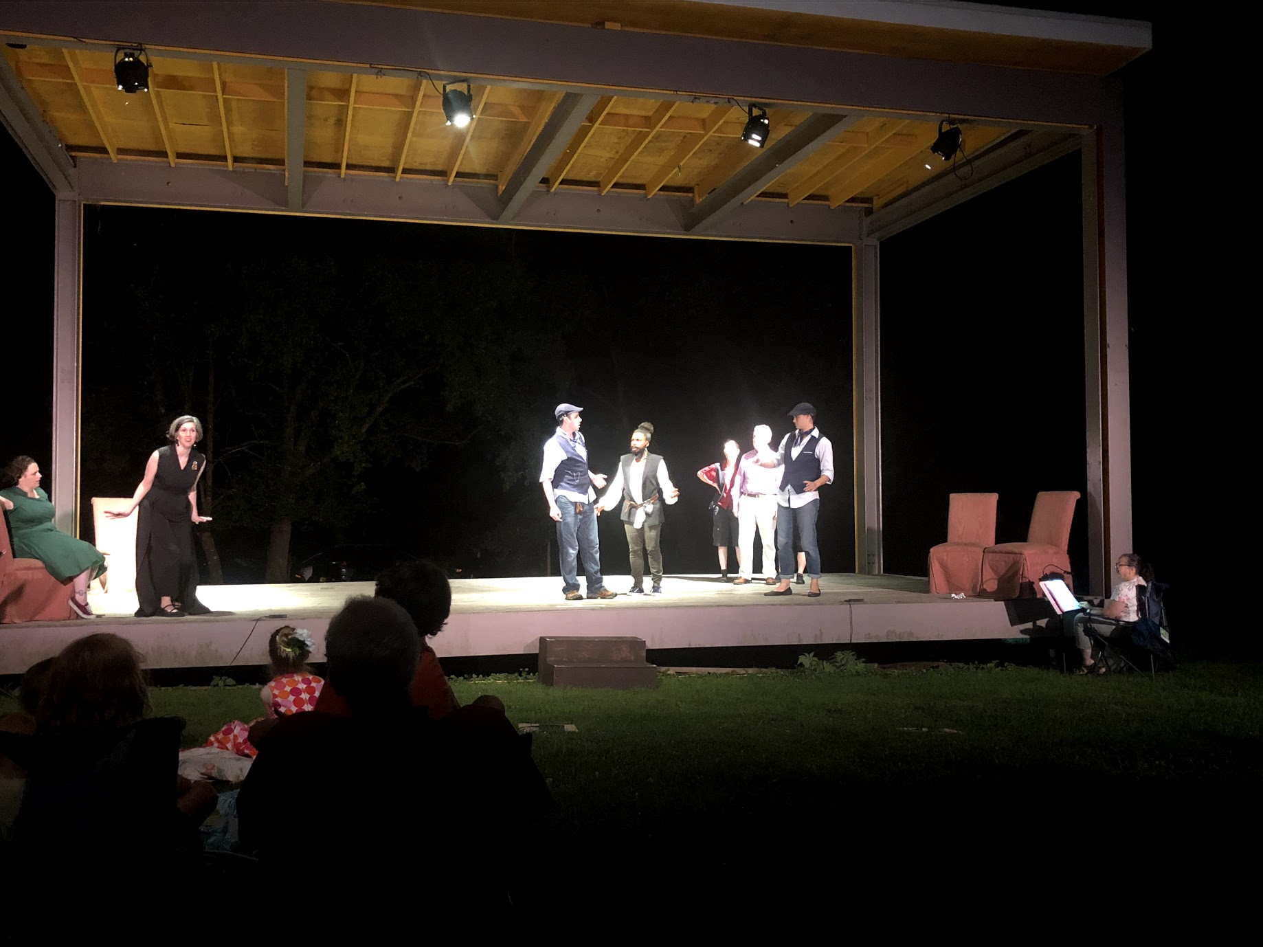 Production still of last summer's  Twelfth Night  featuring ensemble member Kaitlin Chin.