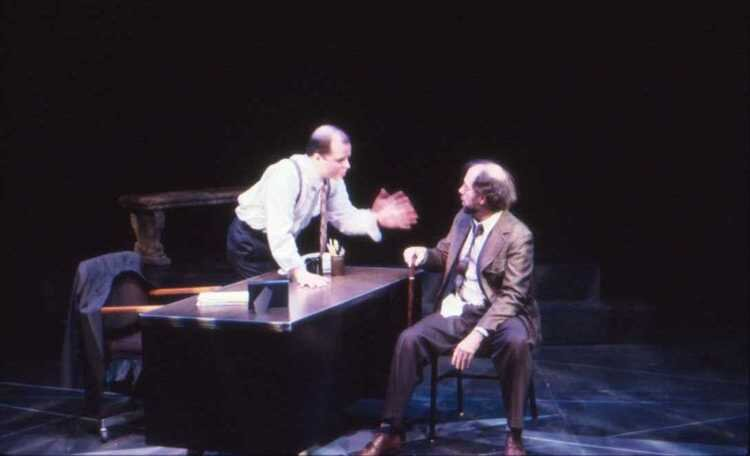 With Tim Moyer in InterAct's production of  Three in the Back, Two in the Head