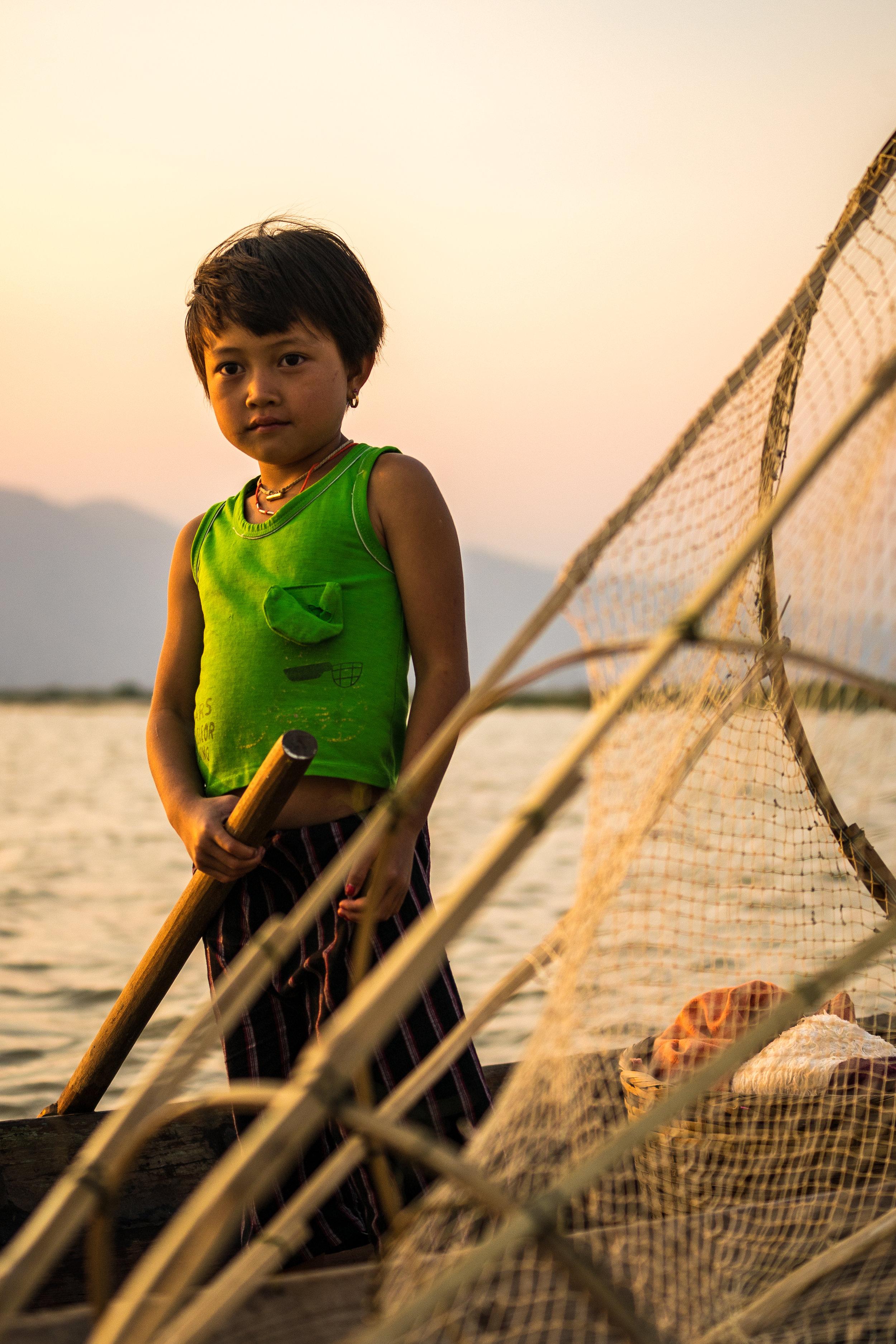 Fisherman's daughter - Inle Lake