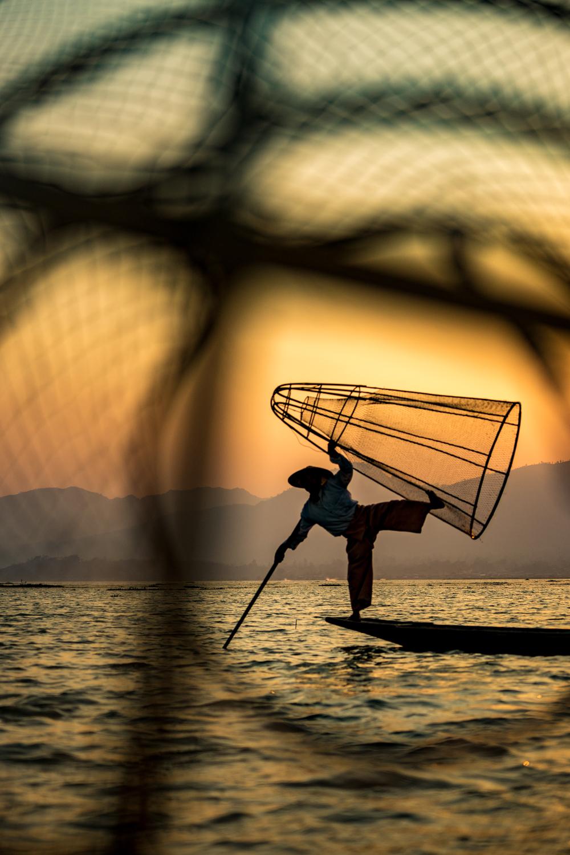 Fisherman's tricks - Inle Lake