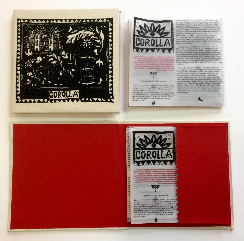 COROLLA, 2018  Screen printed book covers