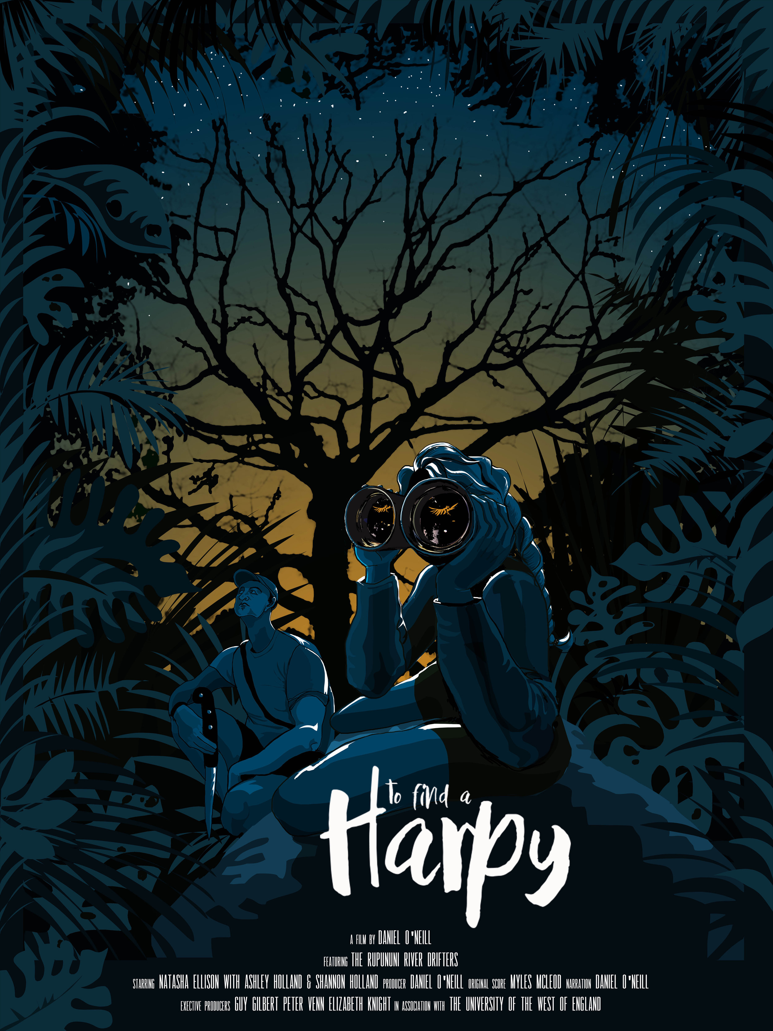To Find a Harpy, 2019  Film poster design for nature documentary short by Daniel O'Neill for BBC