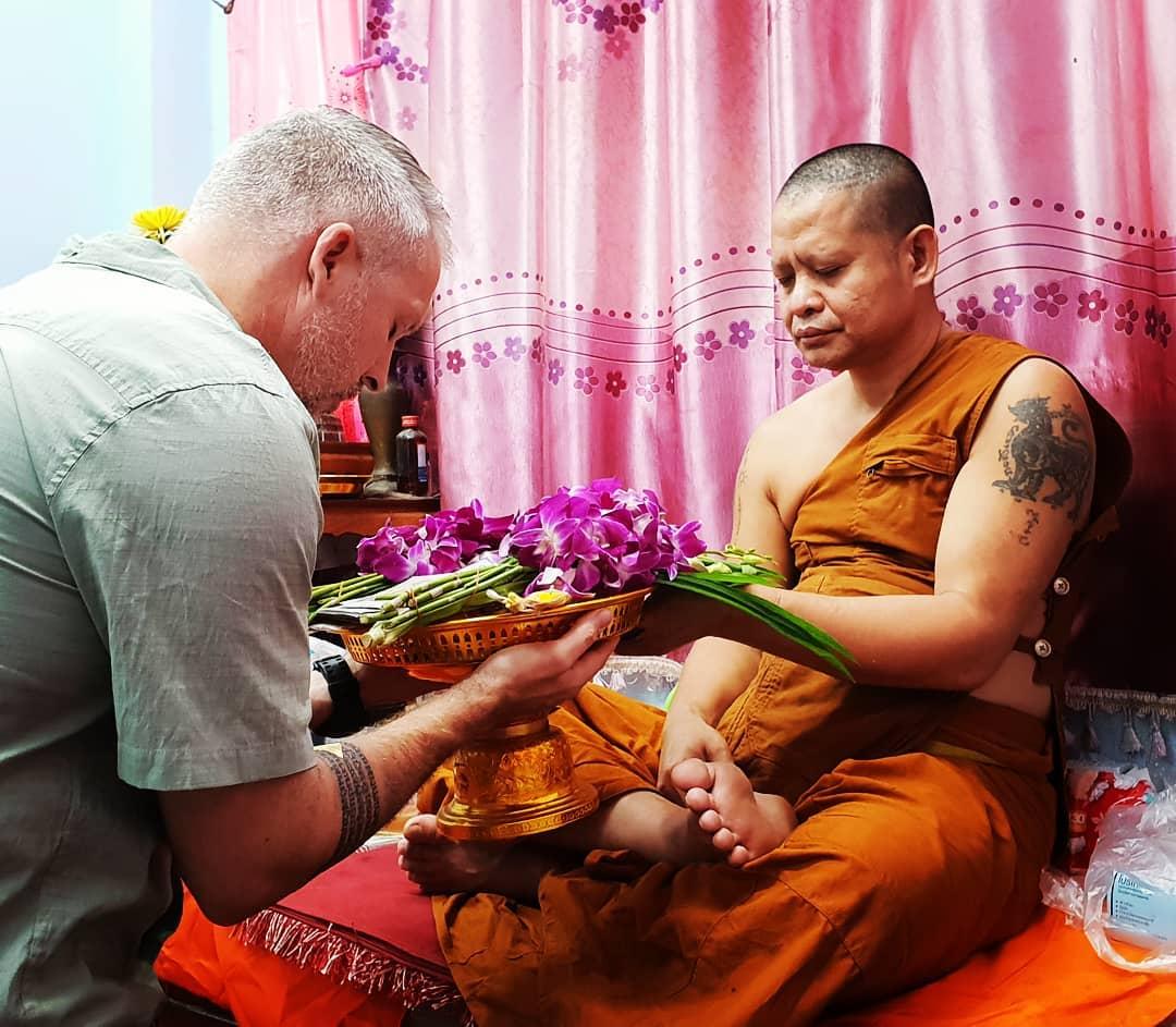 sak yant by monk