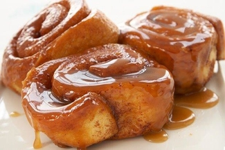 Fresh-baked cinnamon buns