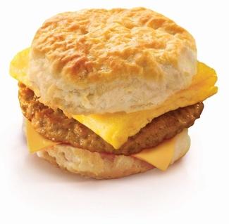Delicious breakfast sandwiches