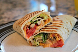 Fresh-made panini sandwiches