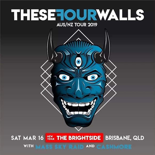 *Venue change*  Saturday's show with @thesefourwallsband and @mass.sky.raid has now been moved to @thebrightsidebris  All tickets purchased are still valid!  We still can't wait for this one!! See you there🤘🏼 #thesefourwallsband  #massskyraid  #cashmore #thebrightsidebris  #brisbane
