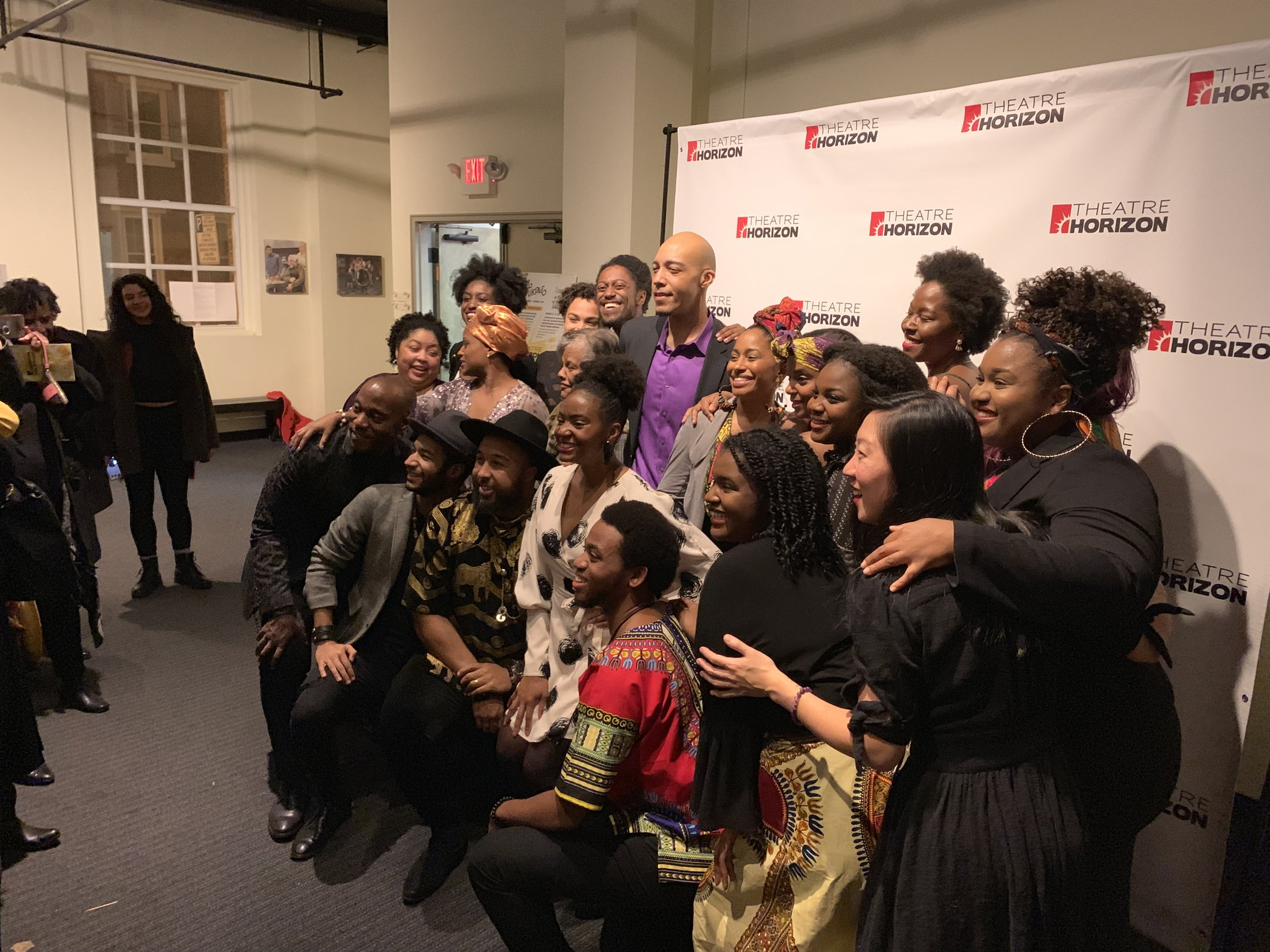 """Jessica M. Johnson in the center of this dynamic cast of color on Opening Night of Theatre Horizon's Regional Premiere of """"The Color Purple"""""""