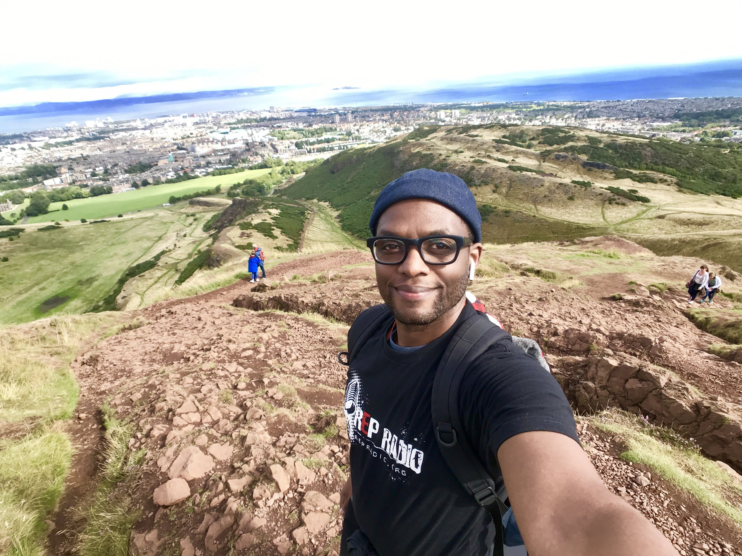 High atop Arthur's Seat, Edinburgh, Scotland - 2018