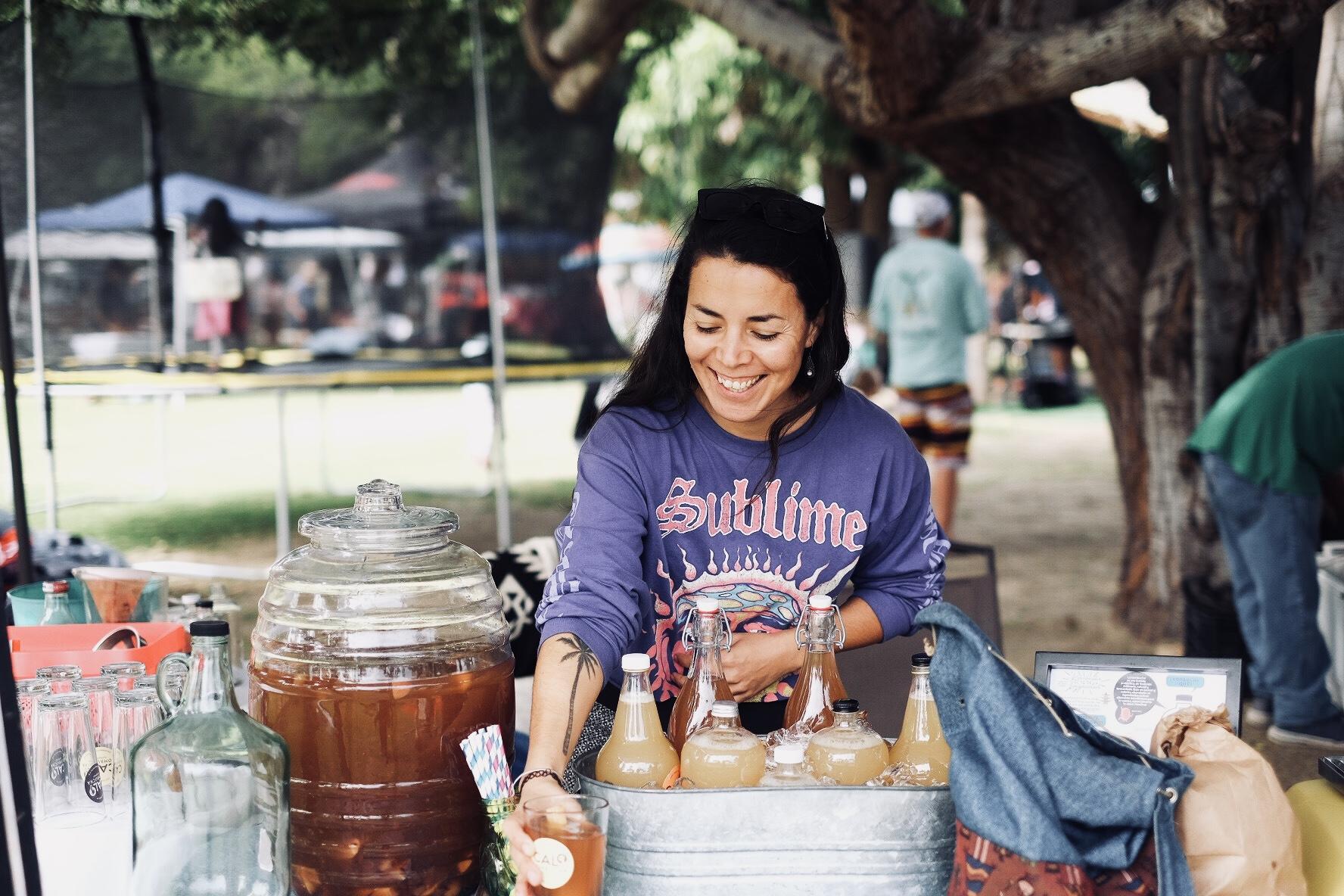 Vanessa Mada (Founder & Brew Master) at Mercado Orgánico de San José del Cabo.