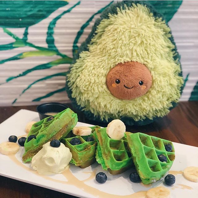 You are what you eat, so eat something sweet! Featuring our Pandan Waffles with avocado ice cream and fresh fruits 😍🥑 pc: @dsfoodtravels