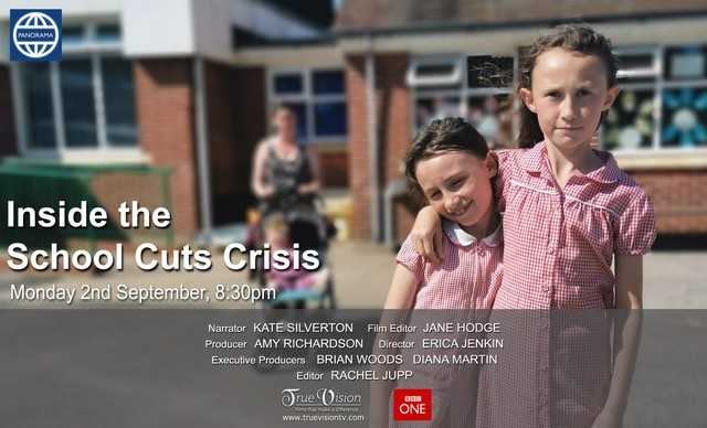 Narrated this @panorama @bbcone tonight 20.30 a hard hitting look at the impact of #schoolspendingcuts on children & teaching staff alike @truevisionproductions