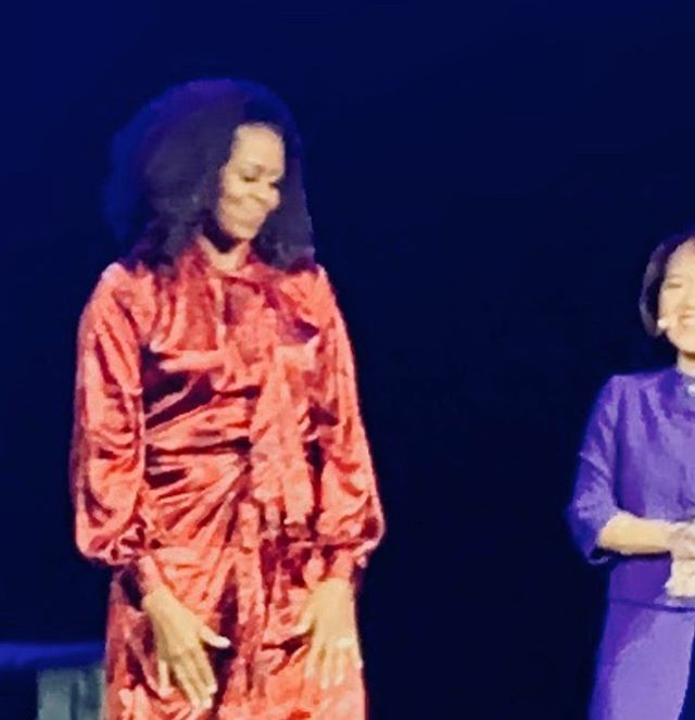 In #dallas #texas to see this beautiful woman speak #michelleobama @michelleobama was #beauty #wit #charm personified reminding us how strength comes through grace & why women must bring their 'whole selves' to the table ...