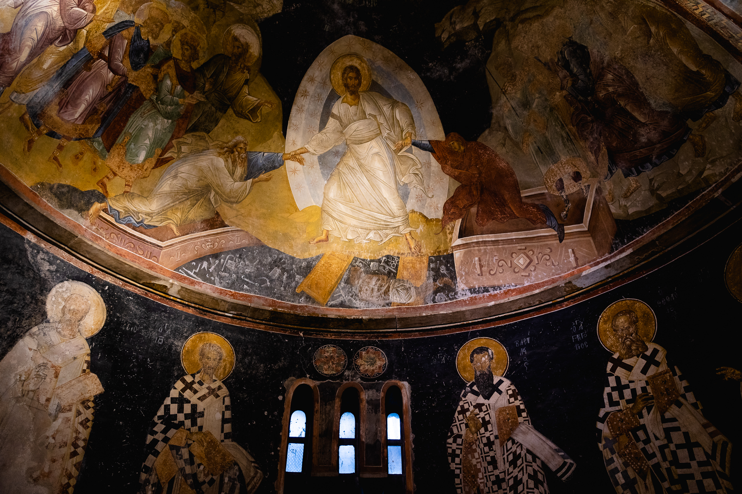 Inside the Chora Church.