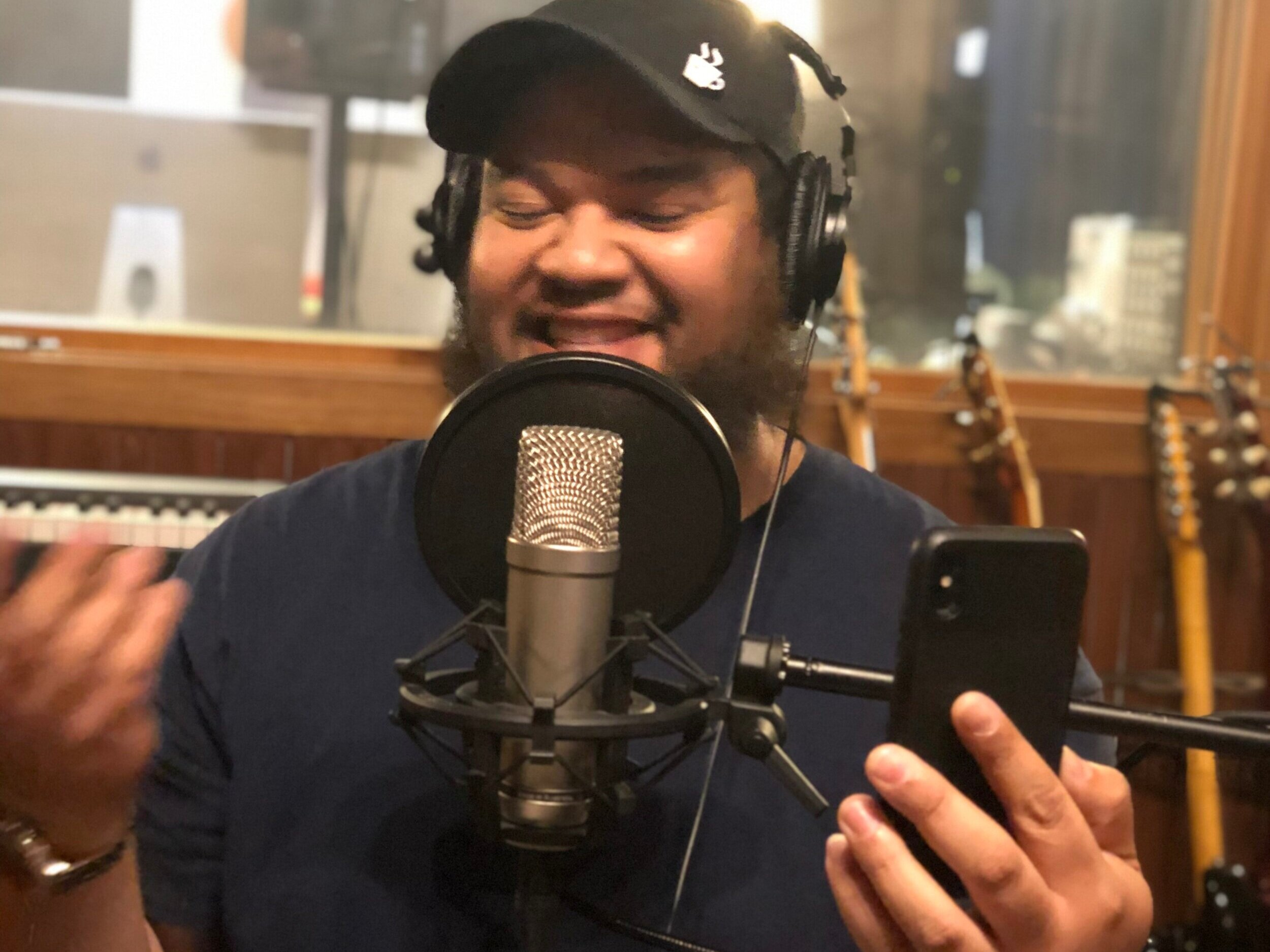 During the recording of the podcast, Wally pulls out his phone and starts to livestream on Instagram. You can hear my surprise in the episode as he starts to interview me.