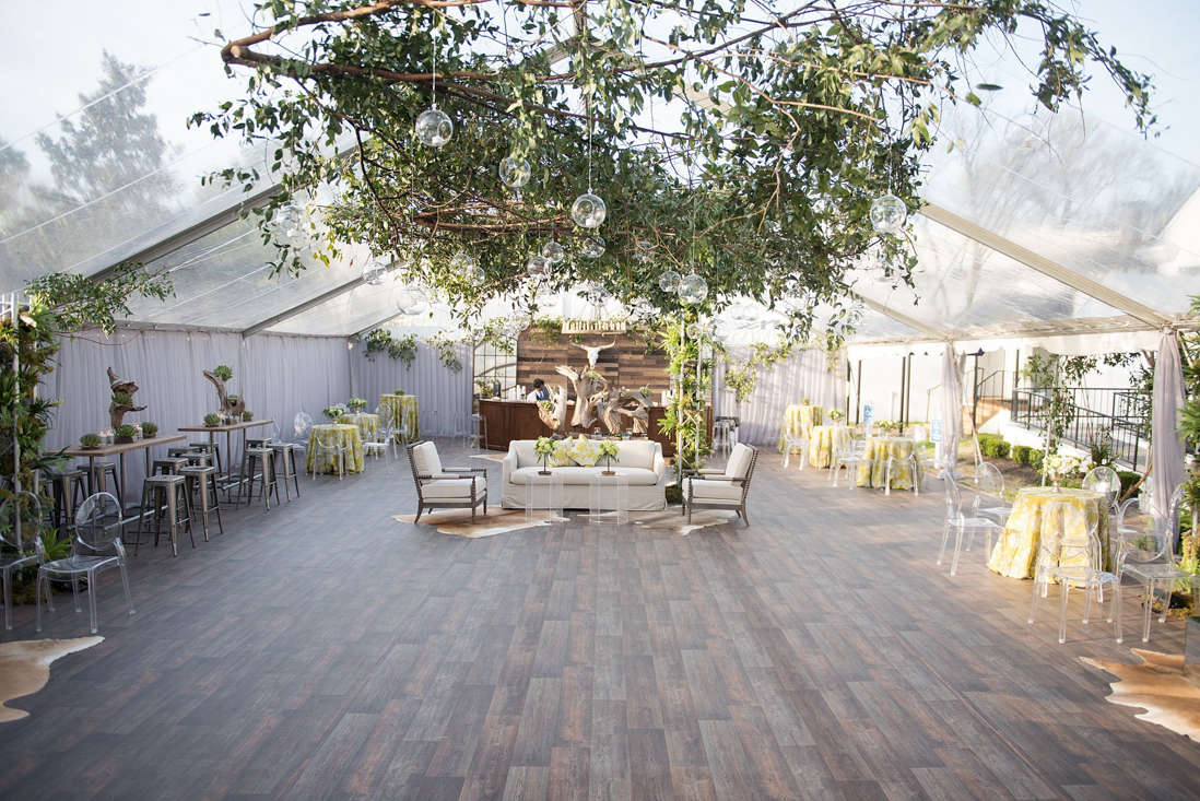 natural botanic green wedding white door events