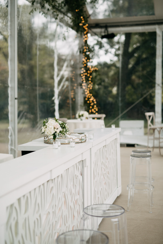 white bar, clear stool, acrylic stool, patterned front bar