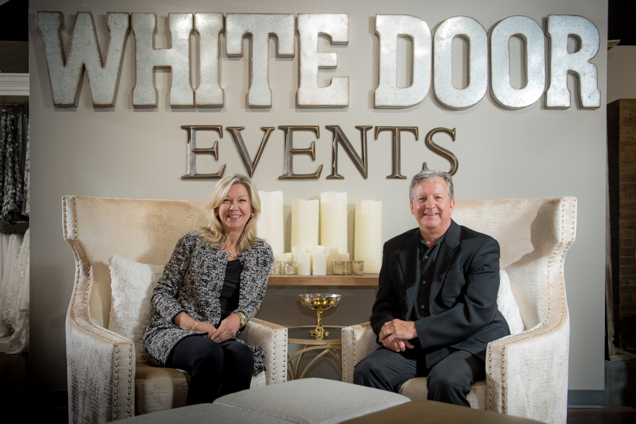 The founders and owners of White Door Events are no strangers to the event industry.  Stan and Beth White began their original company Grand Rental Station in early 1990 with the goal to bring event and party rental products to the Memphis region that were not available to the market at that time. The company soon picked up momentum as the demand grew, and quickly established its noticeable presence in the event business.  Over the next 15 years Grand Rental Station continued to flourish in the event rental industry as they assisted in over thousands of different events. Throughout the course of that time they would make three different facility moves, each to a larger space to accommodate the ever-growing product inventory. During the final move, the company was renamed Grand Events & Party Rentals.  In early 2005 Stan and Beth acquired Party Place based in Nashville, Tennessee that serviced many high profile clients and events. Grand Events & Party Rentals became one of the largest event rental companies in the nation after the acquisition with a total of over 160 employees.  In 2007 the Los Angeles-based Classic Party Rentals approached the company, and in mid 2007 Grand Events & Party Rentals was sold. Beth and Stan continued to manage the Memphis location, and in late 2013 together resigned after 25 years of servicing thousands of events and collecting just as many memories.  After taking time to refresh, their passion is rejuvenated and now wholly focused on building a creative and progressive event rental company, White Door Events.  The name White Door Events was chosen to identify them and at the same time to be inviting. Their goals & desires have always been to listen, to serve and to help customers create the perfect event. They and their team feel all customers and vendors are family because the event industry is a lifestyle and they get to work with many great and passionate people every day!