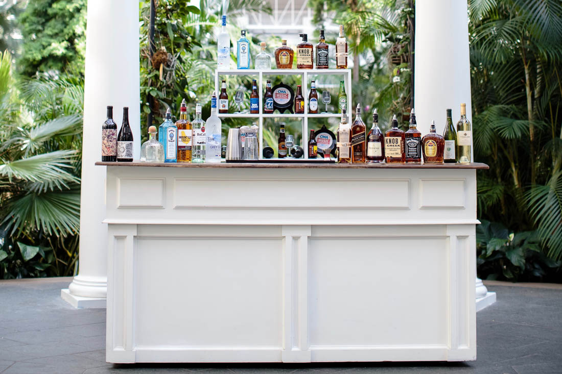 ivory bar, bar with shelve, bar back with shelving, wood top bar