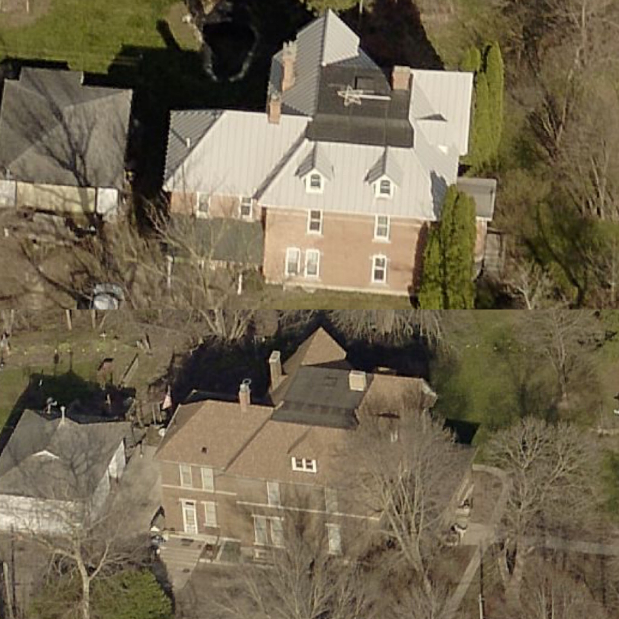 Sister house (top) and Gaye Gardens (below).