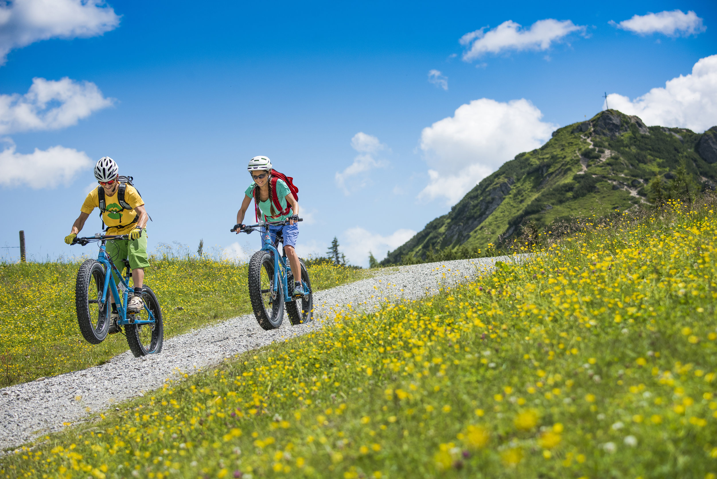 Mountainbike, Fatbike und Roadbike -