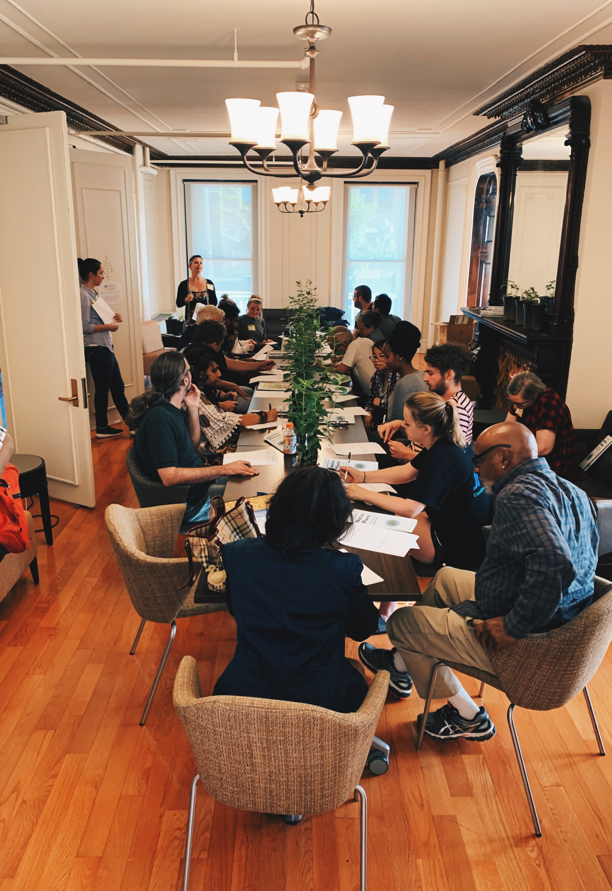 Writers Room First Tuesday Workshop in the Lindy House at the Dornsife Center, May 2019.