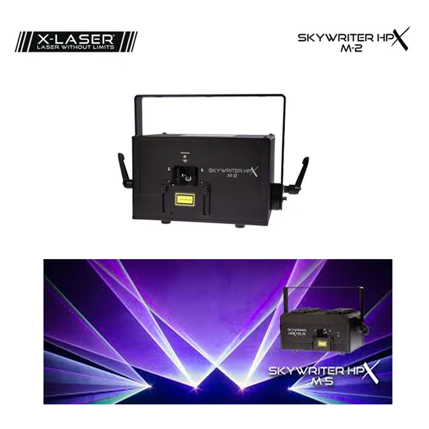 (1) X-Laser Skywriter HPX M-2 - 2W Mercury Laser, E-Stop and Temporary Variance Kit