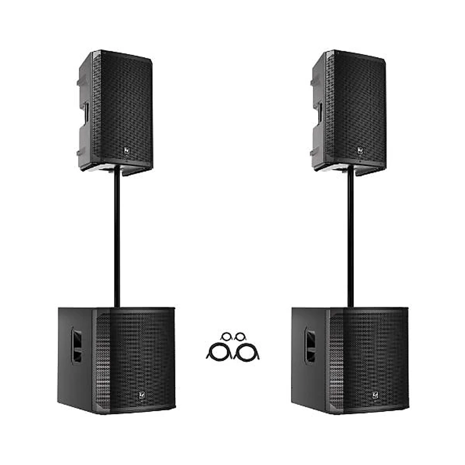"(2) EV 12"" 2-WAY POWERED SPEAKERS, 18"" POWERED SUBWOOFERS"