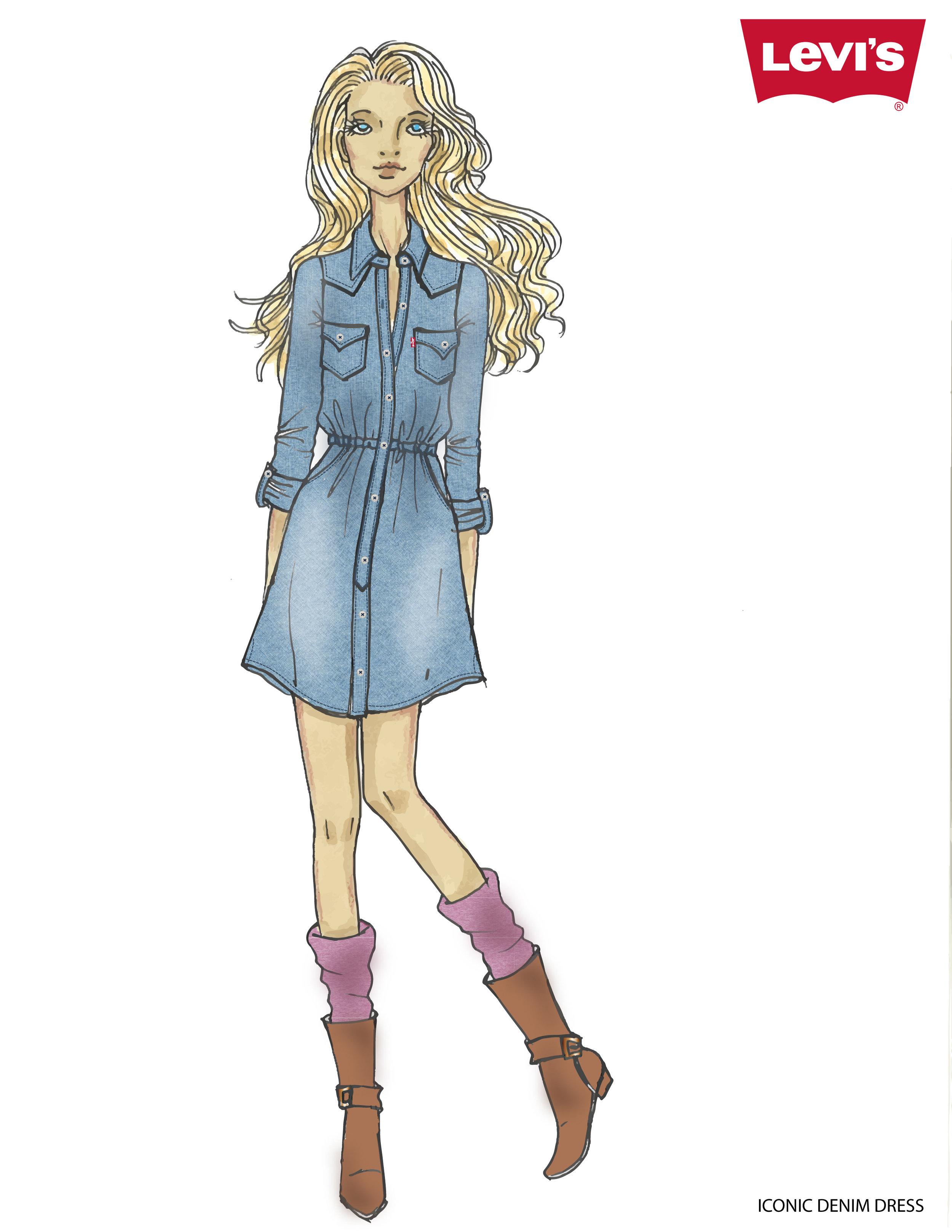Western Dress Sketch - Fall 2017