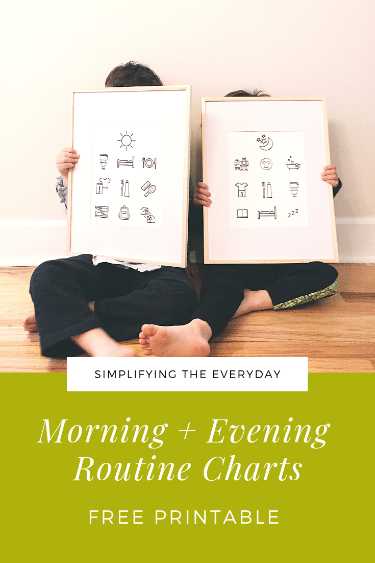 Free Printable Morning Evening Routine Charts for Kids