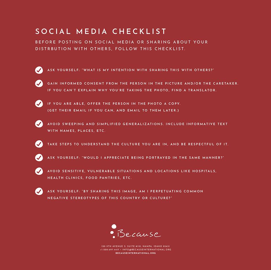 Social Media Checklist -
