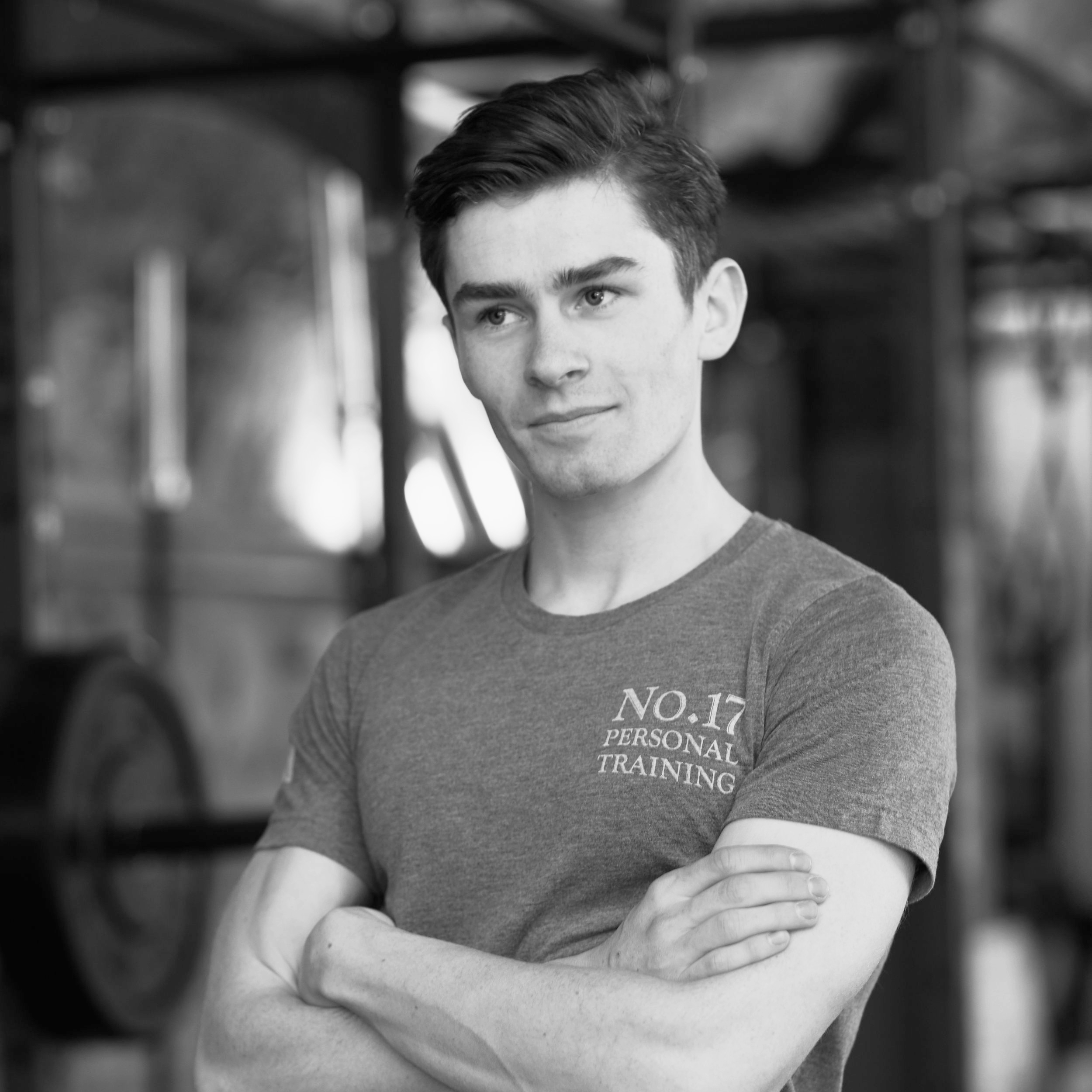 LIAM BELTON  Whether he's holding the pads for a boxing session or coaching an Olympic lift, Liam is a talented instructor who brings out the best of his clients'. His own interests in fitness are well-rounded, from track to his impressive gymnastic and calisthenic skills.