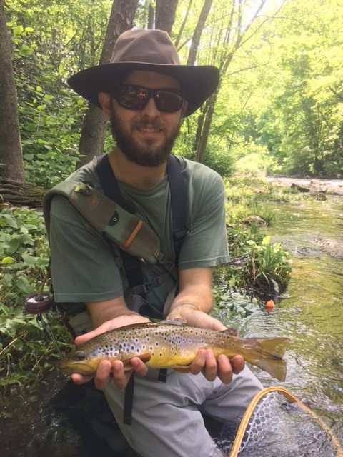 Tim with a great wild brownie
