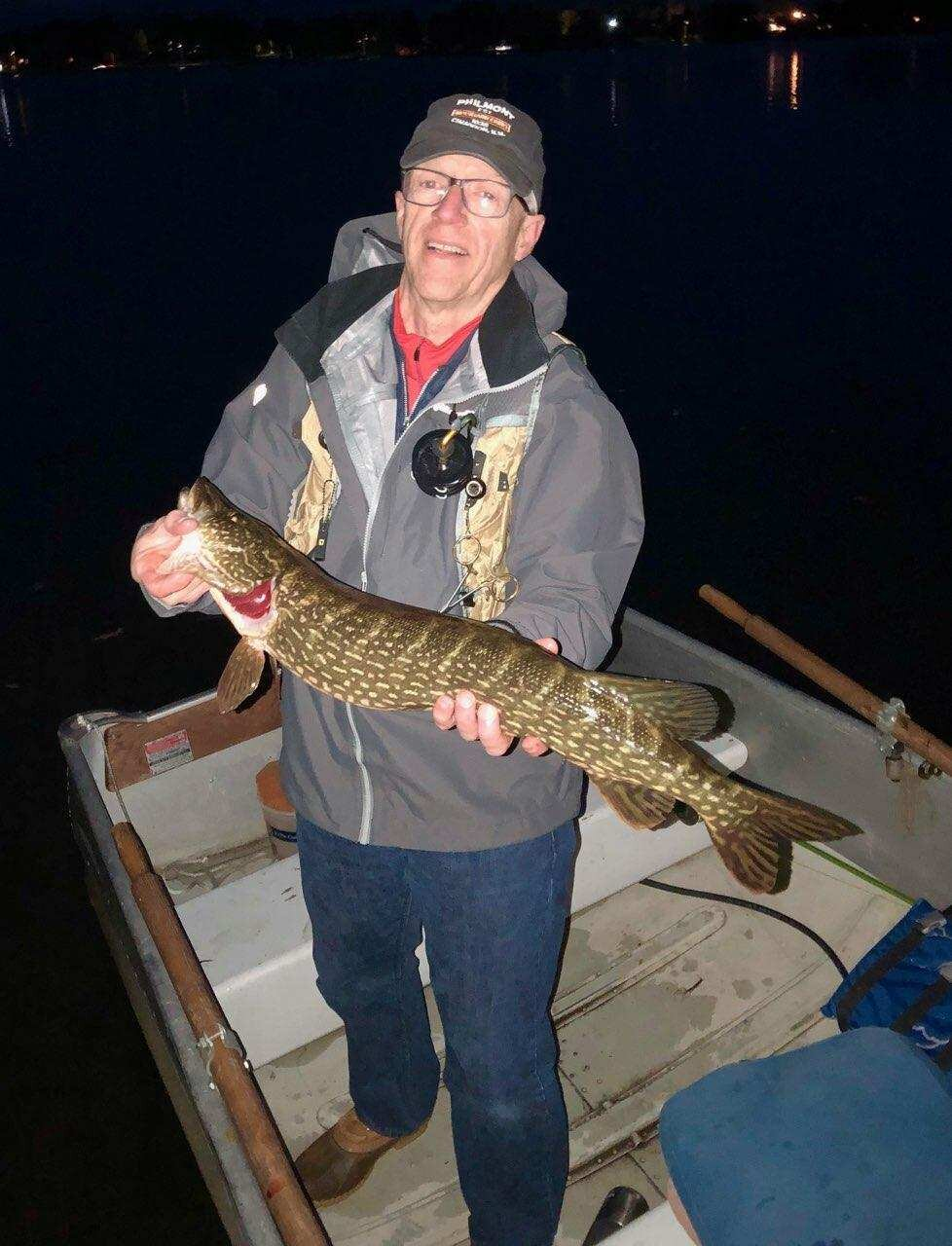 Howard with a tiny Wisconsin Pike