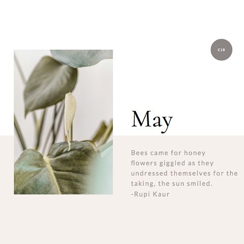 """Ok, fun fact about me, I'm a romantic at Heart and love poetry.  This poem is called """"the second birth"""" which is fitting for my next stage in business.  I'm currently working on a brand refresh for Creative 18 and purposely started this in Spring, the season of growth. I look at this refresh as a new bloom, the next level for my business and clients. Can't wait to share it with all of you when it's complete. In the meantime, what's blooming for you this Spring?"""