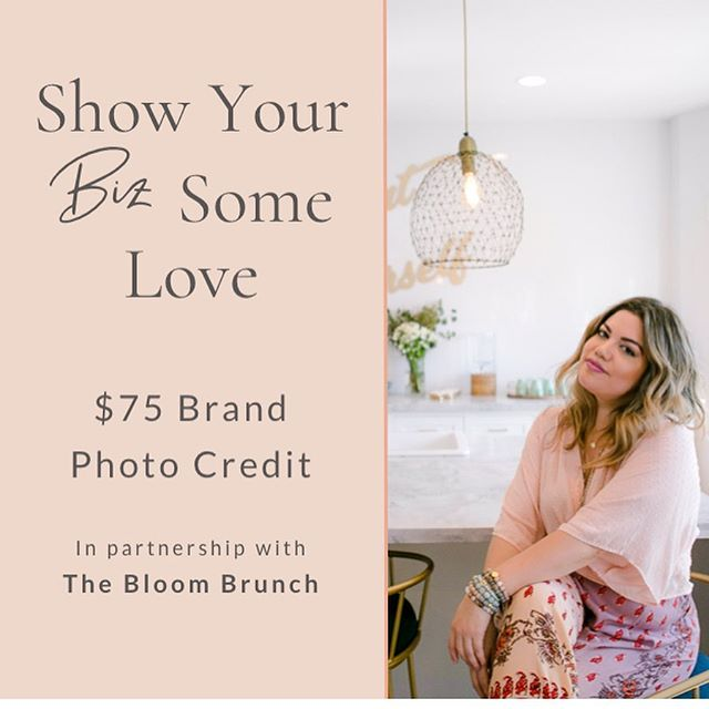 """Hey ladies! Are you ready to uplevel your brand and biz with gorgeous photos, brilliant branding and a brunch-and-learn with other women entrepreneurs? ⚡️ Creative 18 and @thebloombrunch have teamed up with a special gift when you attend the, Just Bloom Babe Brunch, on June 29, where you'll learn from other female entrepreneurs, influencers, strategists and bloggers while enjoying a champagne brunch and locally sourced bites. ⚡️ The Gift: with the purchase of your Bloom Brunch """"pass"""", you'll receive a $75 BRAND PHOTO CREDIT from yours truly. Plus, use code: CREATIVE18 @thebloombrunch checkout for $10 off your brunch """"pass"""" between now and Mother's Day. ⚡️ I'm over the moon happy to offer this gift to you, because I truly believe this will be a biz gamechanger! Let's do this! ⚡️ Contact me directly to apply your credits towards a photo or branding package or set up a consult to learn more. But first......go to @thebloombrunch to get your pass! Swipe for more info 😘"""