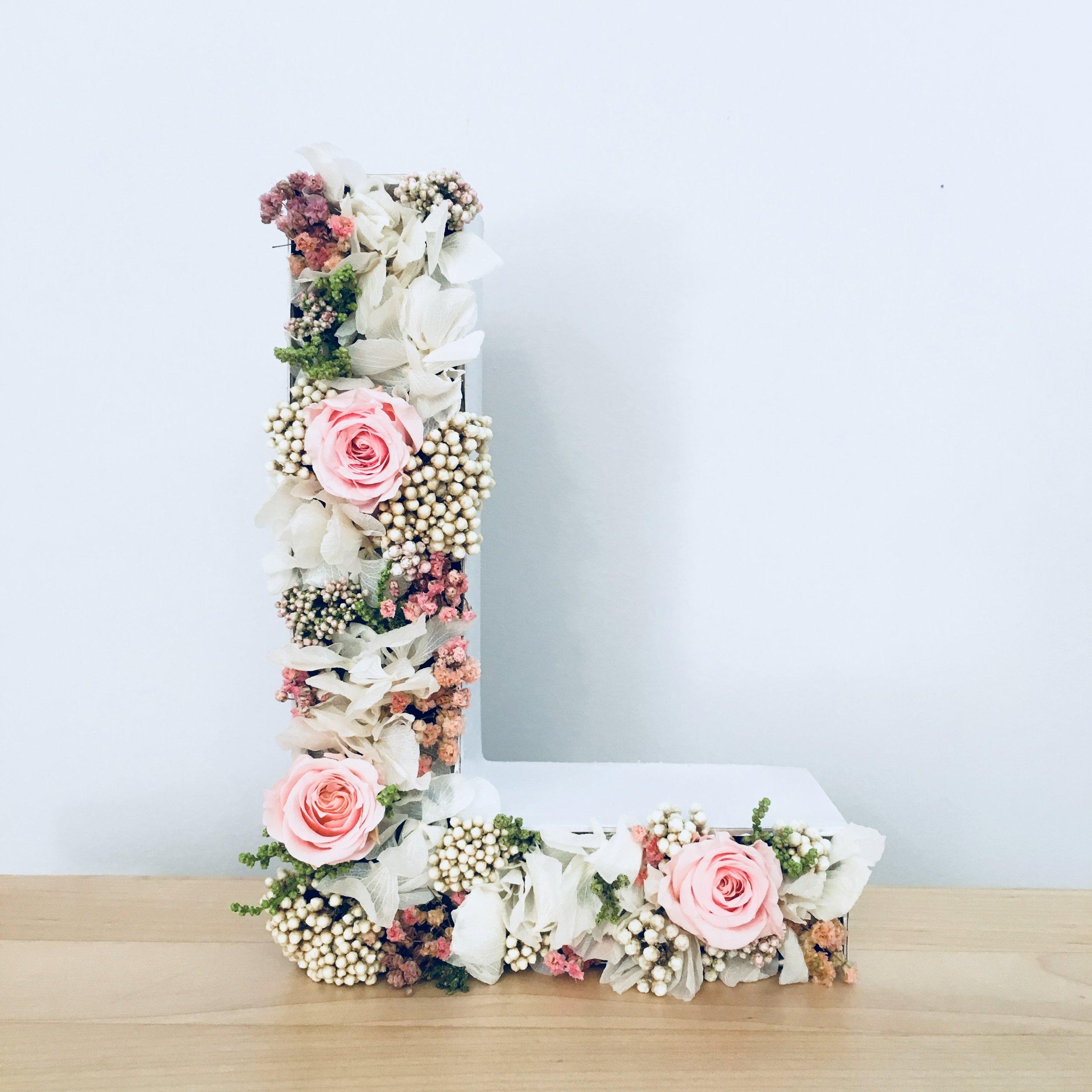 letras con flores madrid