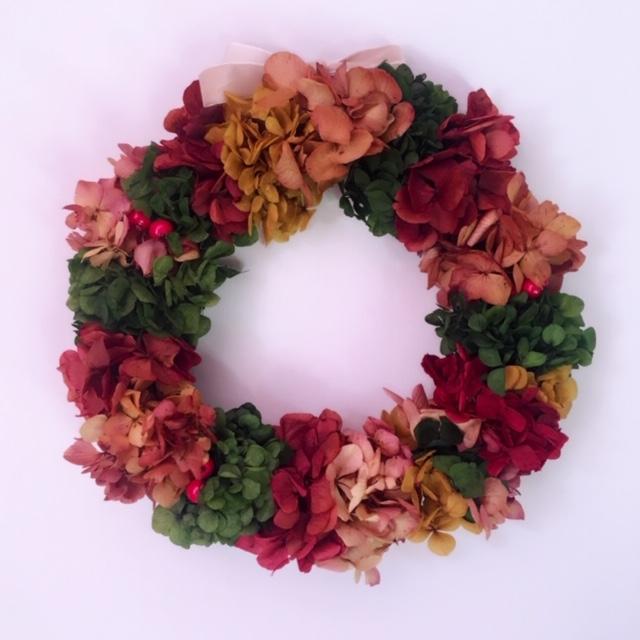 corona flores preservadas navidad