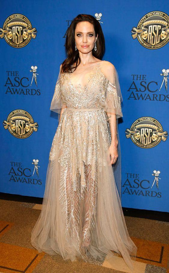 E! News: Angelina Jolie at the 2018 ASC Awards • February 18, 2018