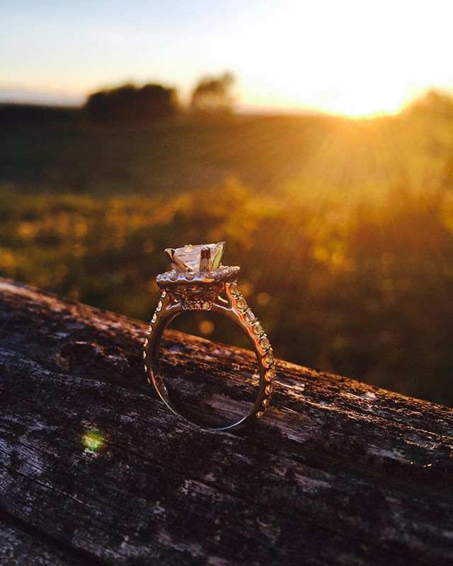 When golden hour catches the light just right ✨💎 . . @kayjewelers 📸@sorrel_anne #NeilLaneJewelry #ringoftheday #sunset #springtime #goldenhour