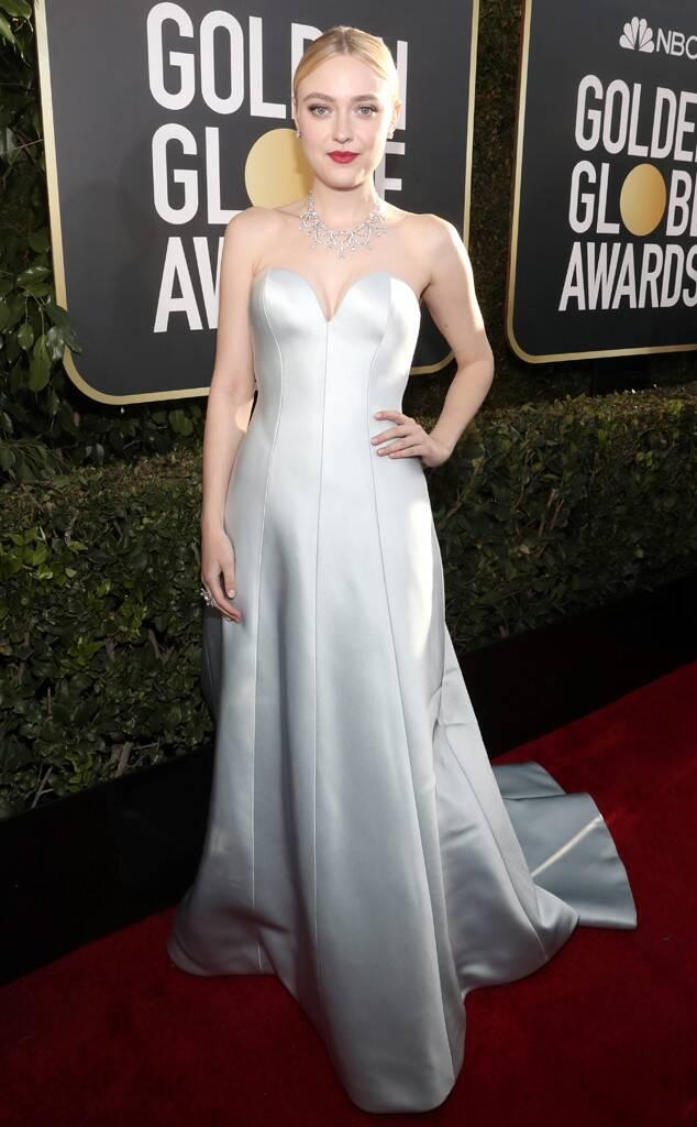 E! News: Dakota Fanning at the 2019 Golden Globes • January 6, 2019