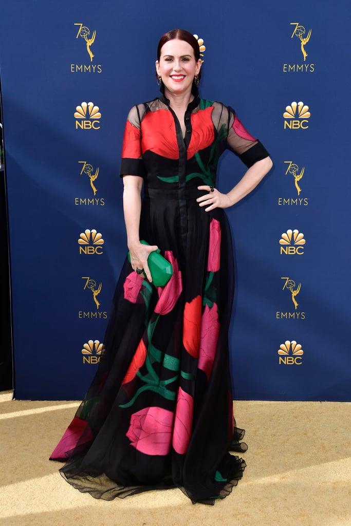 Popsugar: Megan Mullally at the 2018 Emmys • September 23, 2018