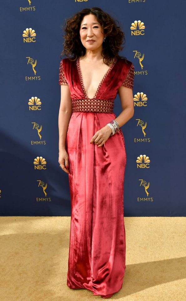 Yahoo Entertainment: Sandra Oh at the 2018 Emmys • September 17, 2018