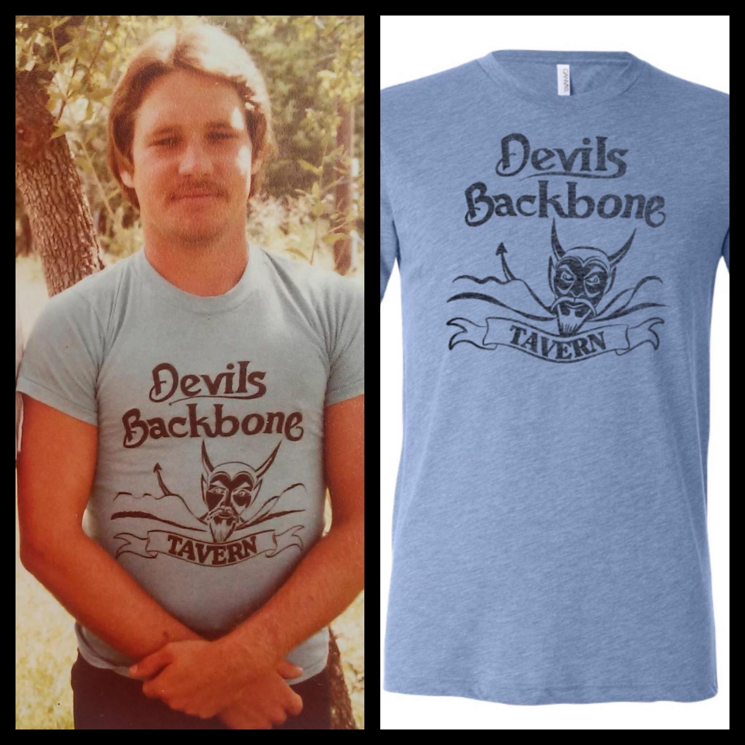 Vintage Backbone Tee w Devil - Not today Satan!