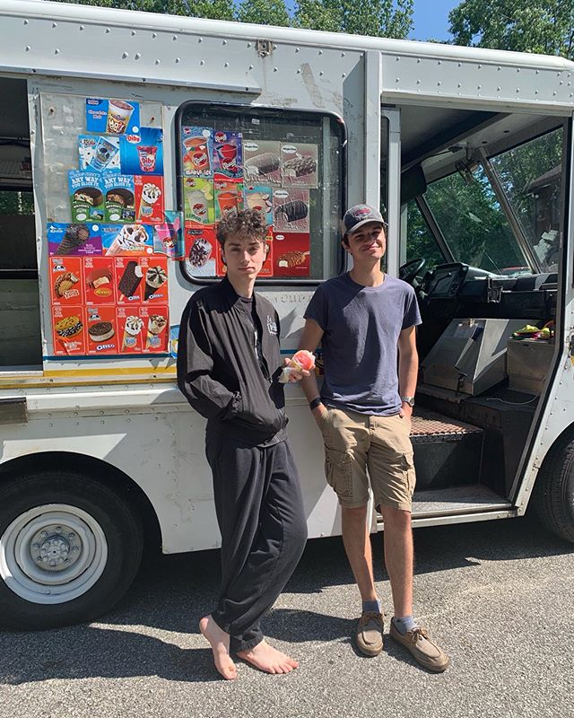 ice cream man came thru