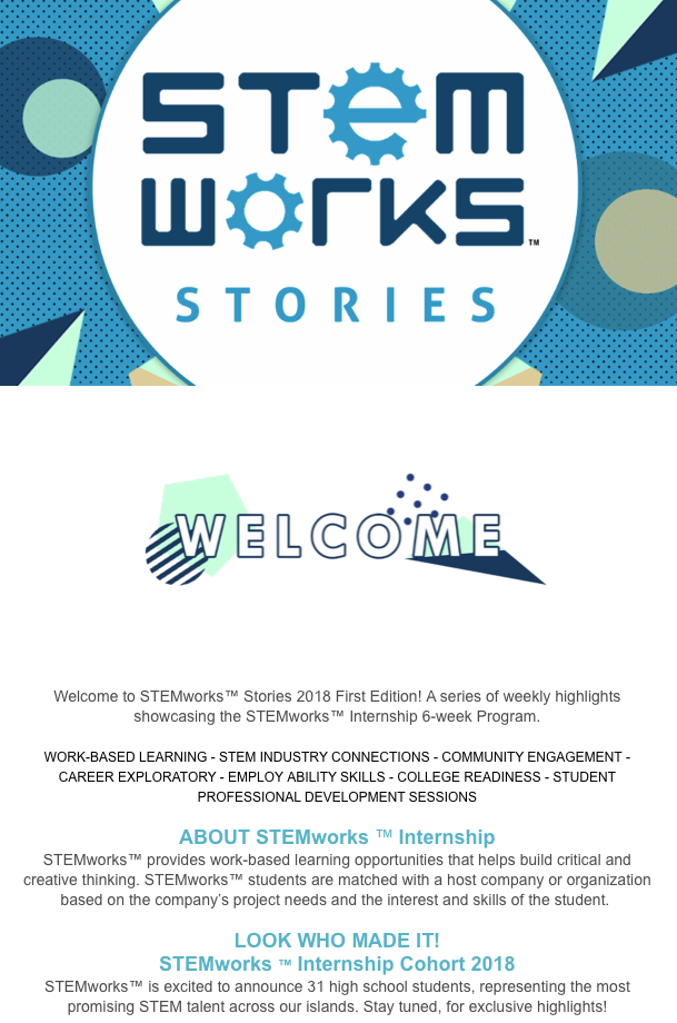 STEMworks™ Stories e-newsletter - Issue 1