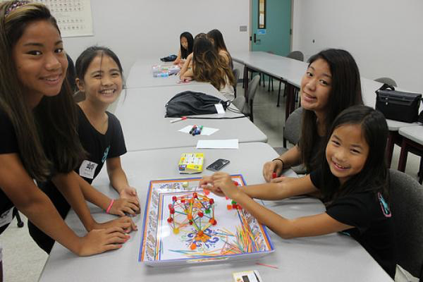 Middle and high school girls at MEDB'S 4-H TECH CONNECT engaged in an activity called Geodesic Domes. Students worked in competitive teams to build the strongest geodesic dome using toothpicks and gumdrops! Whose engineering design is the strongest?