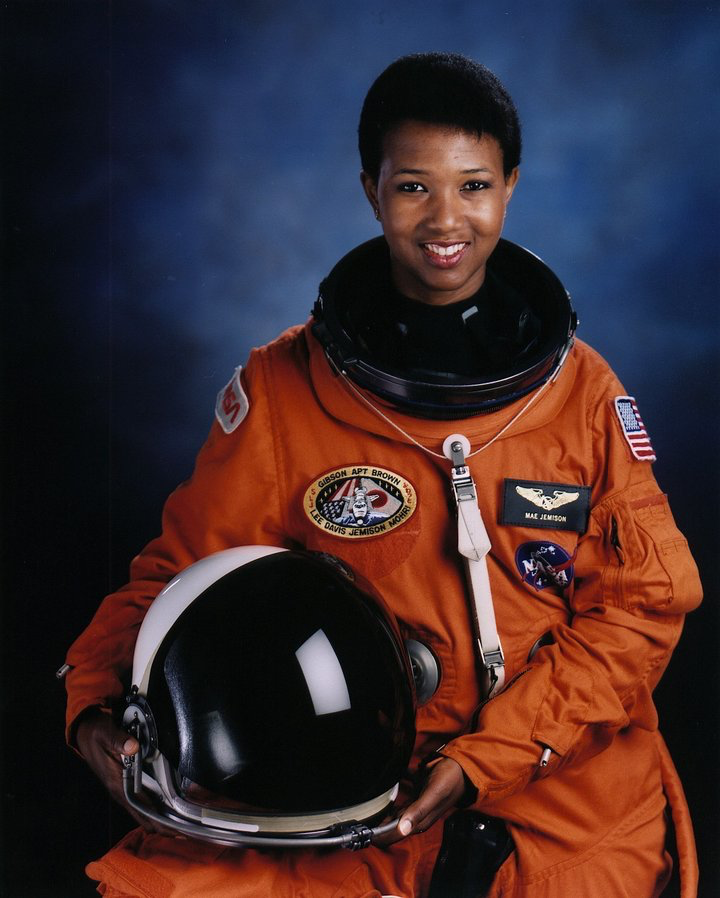 Astronaut Mae Jemison, first African-American woman in space as STS-47 Endeavour mission specialist. (Photo by Time Life Pictures/NASA/The LIFE Picture Collection/Getty Images)
