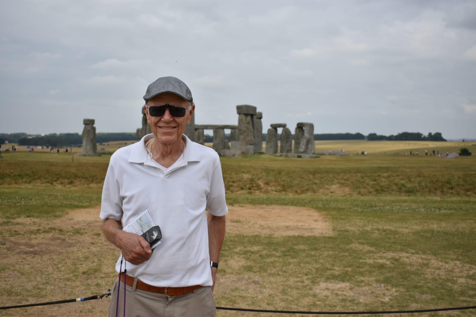 Maestro Shafer at Stonehenge
