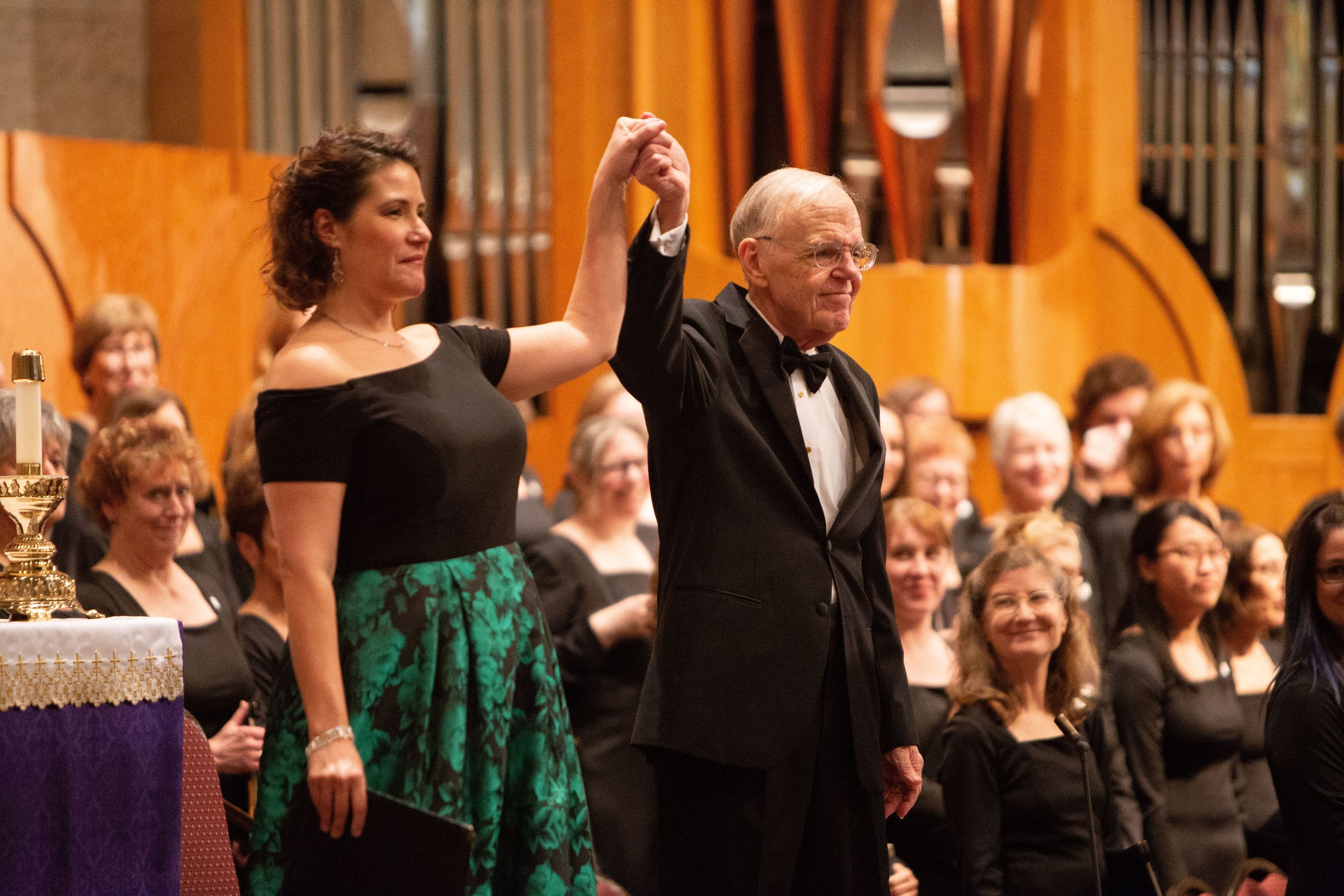 March 2019, soprano soloist Danielle Talamantes & Maestro Shafer